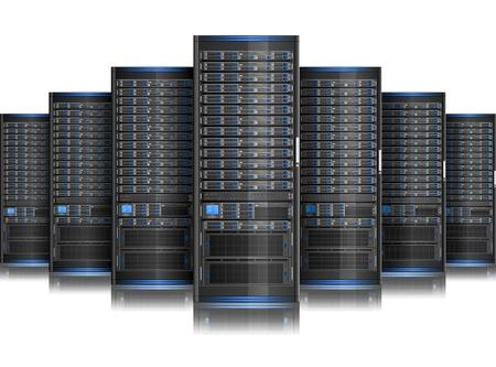 Illustration von Netzwerk-Server