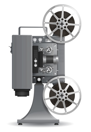 High detailed movie projector Vector