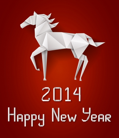 Chinese New Year S Horse Origami Paper S Horse Royalty Free