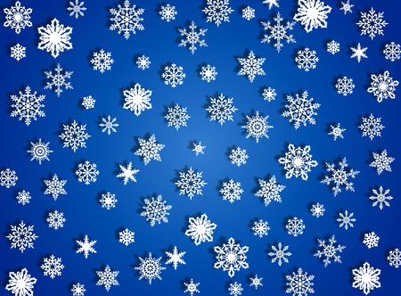 Falling snow Illustration