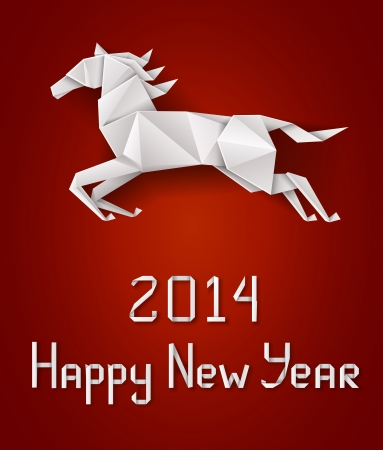 Chinese New Year s horse Illustration