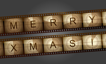 Merry xmas film countdown Vector