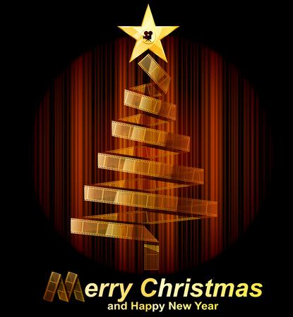 christmas movies: Filmstrip christmas tree
