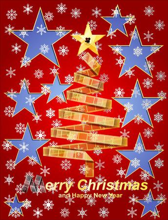 movie poster: Filmstrip christmas tree