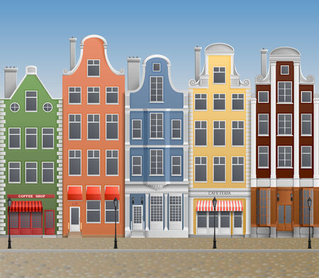 Illustration of old european town Illustration