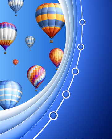 Modern business with balloons, contains transparency
