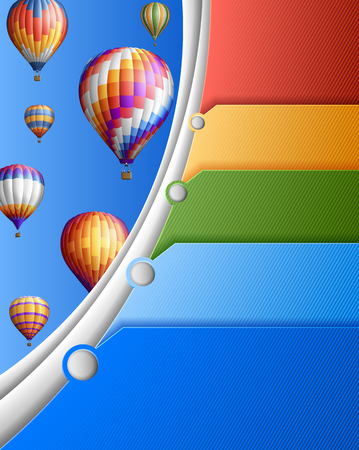 Modern business with balloons,contains transparency  Illustration