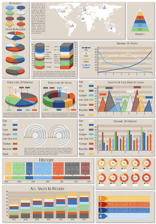 infographic set of charts world resources