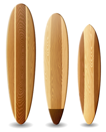 Illustration of surfboards with wood texture contains transparency Иллюстрация