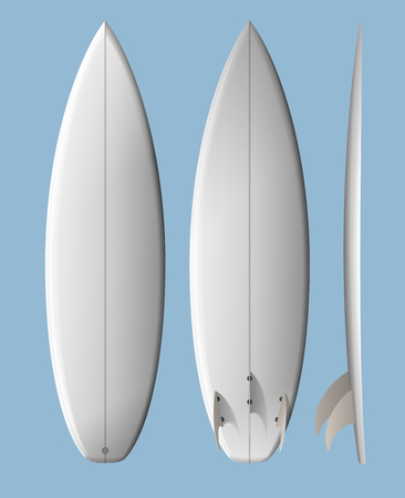surfing: White clean surfboard  contains transparency
