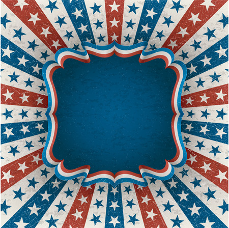 Greeting card for fourth of july holiday contains transparency Illustration