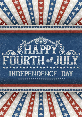 fourth july: Greeting card for fourth of july holiday  contains transparency