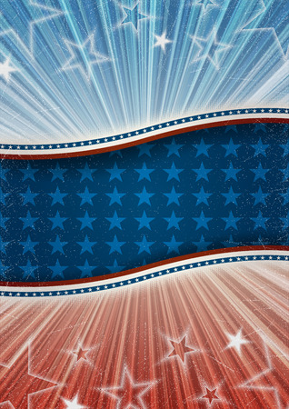 Abstract american patriotic background , Contains transparency Illustration