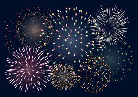 colorful fireworks, EPS 10 contains transparency Zdjęcie Seryjne - 30718414