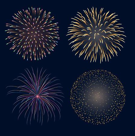 Set of fireworks, contains transparency Фото со стока - 30718448