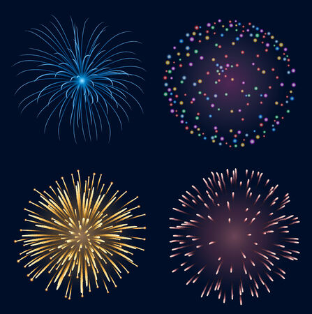 feast day: Set of fireworks,contains transparency