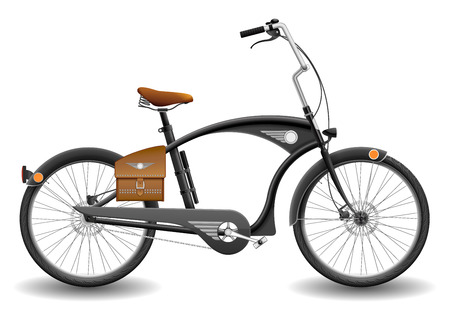 cruiser bike: Illustration of bicycle chopper, contains transparency  Illustration