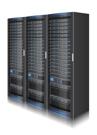 illustration of network server,  contains transparency