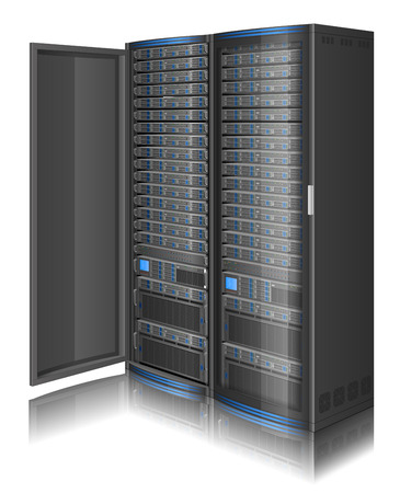 storage unit: Illustration of network server,  contains transparency
