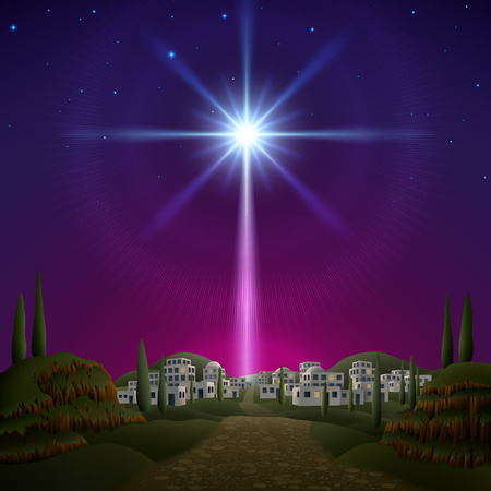 navidad estrellas: Estrella de Bel�n. EPS 10, contiene trasparencia, contiene malla. Vectores