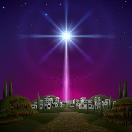 christmas star: Stella di Betlemme. EPS 10, contiene trasparenza, contiene mesh. Vettoriali