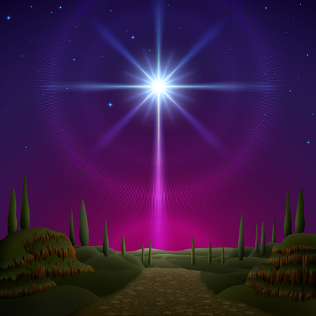 Star of Bethlehem. EPS 10, contains trasparency, contains mesh. Vettoriali