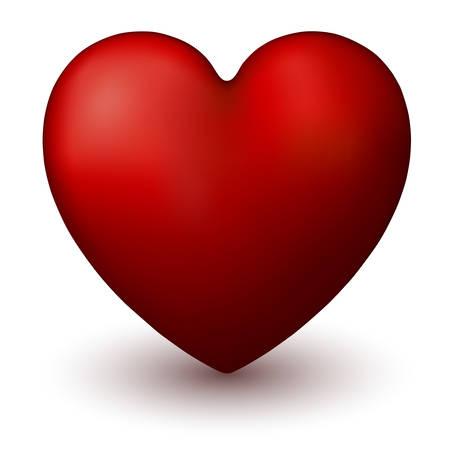 Illustration of three dimensional heart symbol