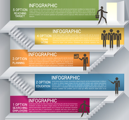 Business plan with staircase. Thinking idea, EPS 10. Can be used for businees plan, strategy, layout banner diagram, etc