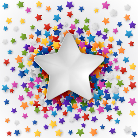 multy: Colorful background with confetti of stars, for greeting cards and celebrations, EPS 10 Illustration