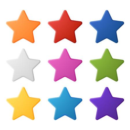 multy: Set of simple colorful stars, EPS 10 Illustration