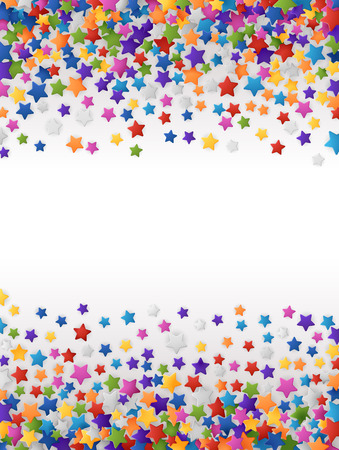 Colorful background with confetti of stars, for greeting cards and celebrations, EPS 10 contains transparency