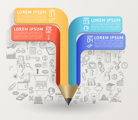 Education concept with pencil. Can be used for layout diagram web design etc EPS 10 contains transparency.