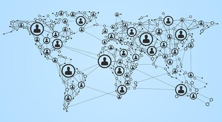 alrededor del mundo: Ilustración de la red global de 10 EPS.