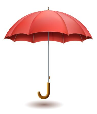 red umbrella: Illustration of red umbrella on white background EPS 10 contains transparency.