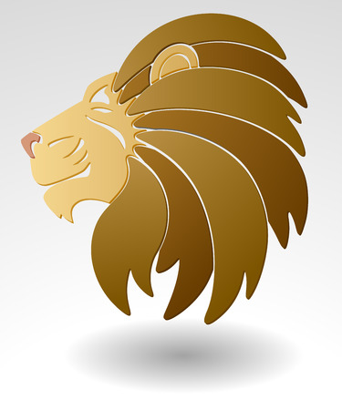 Abstract illustration of lion head team mascot or logo EPS 8. Vector