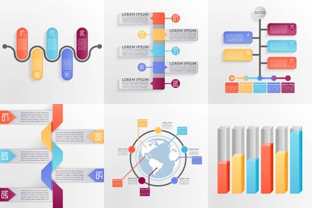 Set of business templates. Can be used for layout diagram web design etc EPS 10 contains transparency. Illustration