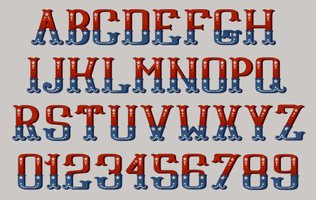 4th: Vintage american font EPS 10 contains transparency.