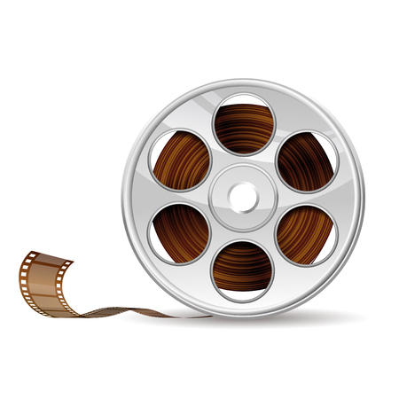 entertainment equipment: Illustration of camera reel
