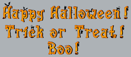 mystique: Halloween Greetings with spooky Font, EPS 10 contains transparency. Illustration