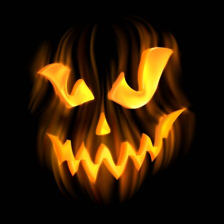 ghastly: Halloween-terrible background with Jack-o-Lantern. EPS 10 contains transparency.
