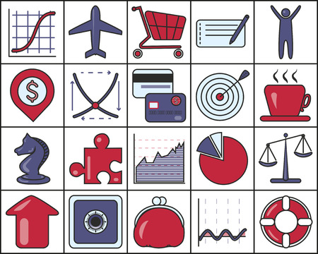 ring buoy: Set of Business Icons, EPS 10 contains transparency