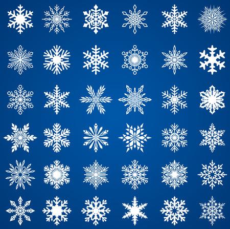 Set of snow flakes, EPS 8