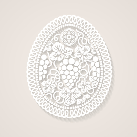 catholic: Abstract Easter egg with floral decoration contains transparency. Illustration
