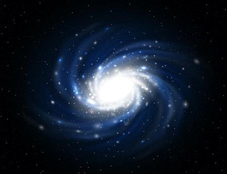 Illustration der Milchstraße enthält Transparenz.