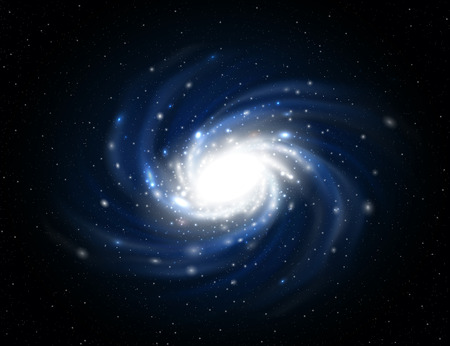 Illustrazione della Via Lattea contiene trasparenza.