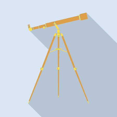 ocular: Telescope icon, abstract illuctration of telescope refractor, EPS 10 contains transparency.