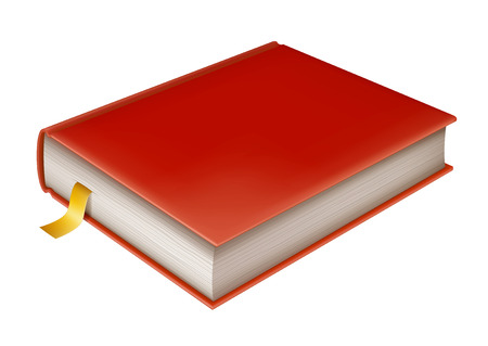 closed book: Illustration of closed book, realistic book icon, EPS 10 contains transparency.