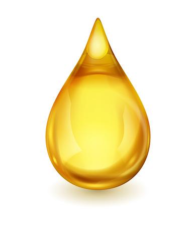 Kropla oleju samodzielnie na białym tle. Ikona kropli oleju lub miód, EPS 10 zawiera przezroczystość. Ilustracje wektorowe