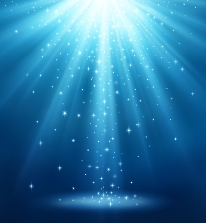 A Background with magic light, rays of light with shiny stars. EPS contains transparency. Illustration