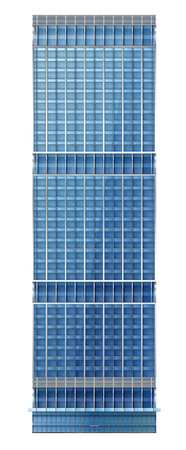 glass office: Illustration of skyscraper, modern apartment and office building, with facade of glass, illustration on the business, EPS 10 contains transparency, layered vector file.